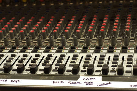 Sound board with Instrument labels