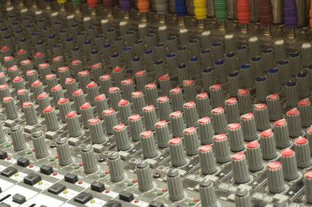 close up of sound board
