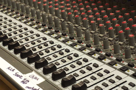 Sound board with gaffer tape