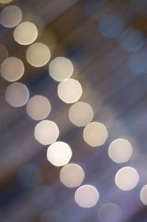 Golden blurred lights