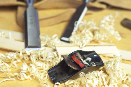 Fine Woodworking tools Stock Photo