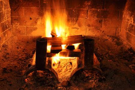 Fireplace heat photo