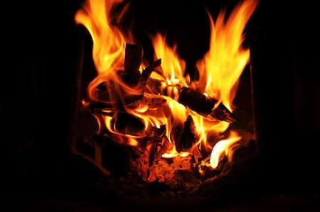 Dancing fireplace flames
