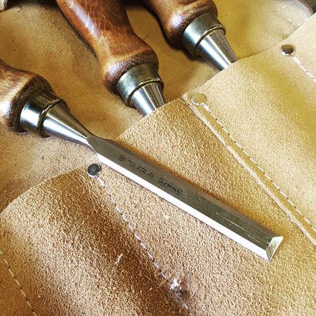 Wooden Chisels Reklamní fotografie