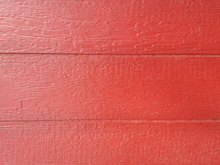 Wood siding painted red