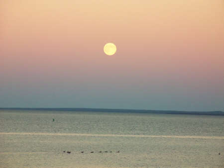Blue Moon over Lake Superior