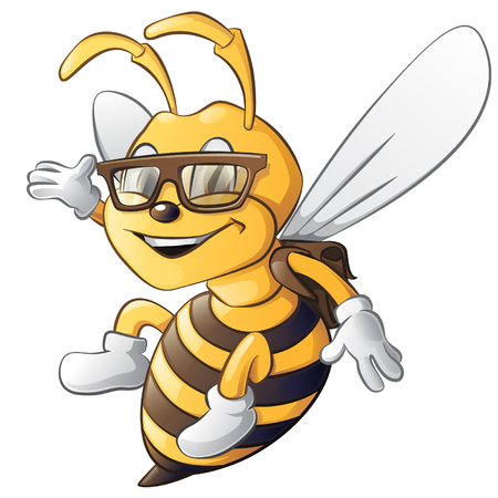 bee illustration smart bee 矢量图像