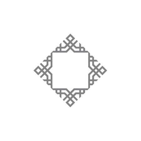 Indisch Arabisch Indisch symboolelement Indisch vierkant symbool. Stock Illustratie