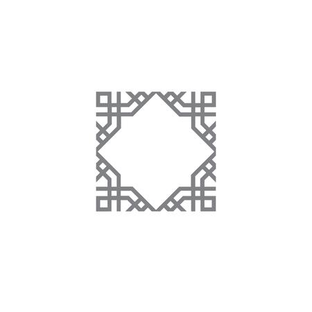 Indisch Arabisch logo Indisch symbool element Indisch vierkant symbool