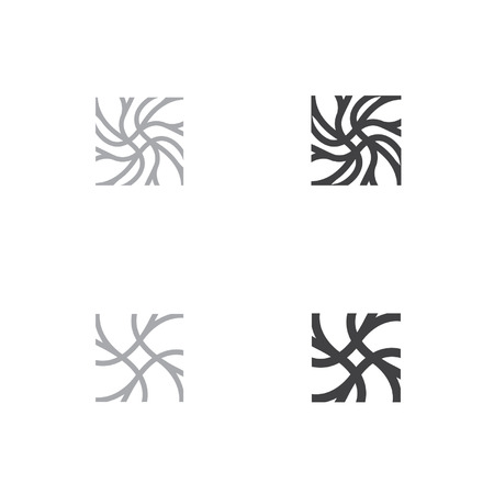nerve signals: neuron head symbol neuron logo neuron square logo