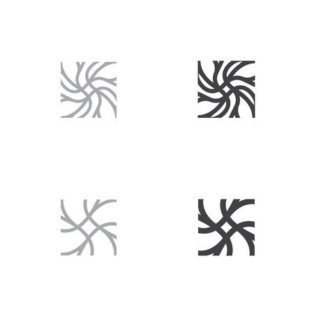 neuron head symbol neuron logo neuron square logo