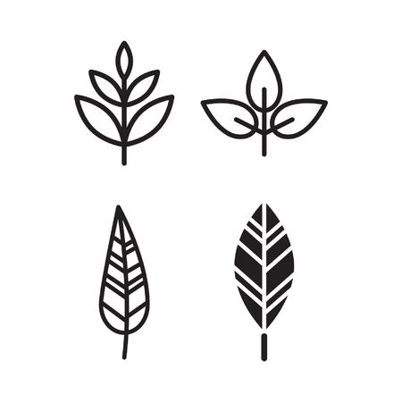 leaf abstract Stock Illustratie