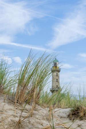 Lighthouse on the beach of Warnemünde
