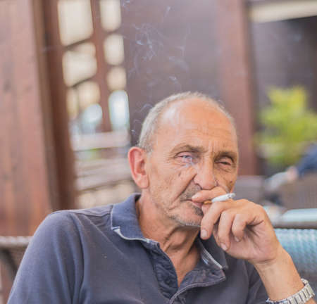 dude: old dude Stock Photo