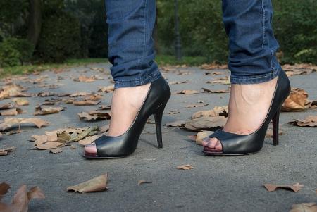 Girl on High heels  Stock Photo