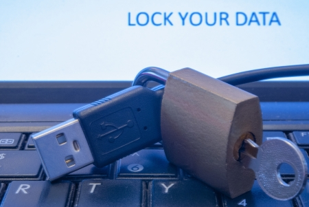 Locker as a concept internet protection photo