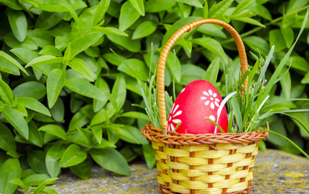 Multicolor painted eggs as a easter concept photo