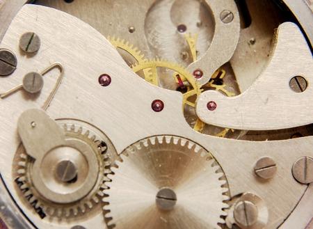 Old watch mechanism Stock Photo