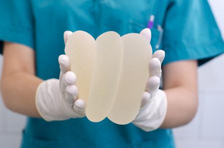 Silicone breast implant for breast augmentation in plastic surgery Standard-Bild