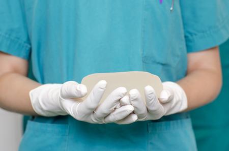 Silicone breast implant for breast augmentation in plastic surgery 版權商用圖片