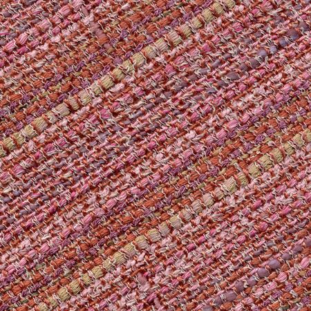 Handwoven pink fabric with stripes