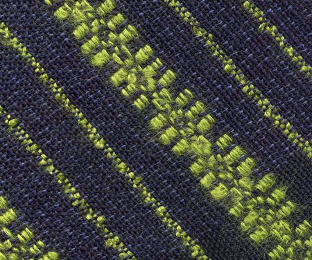 Closeup of handwoven fabric with pattern