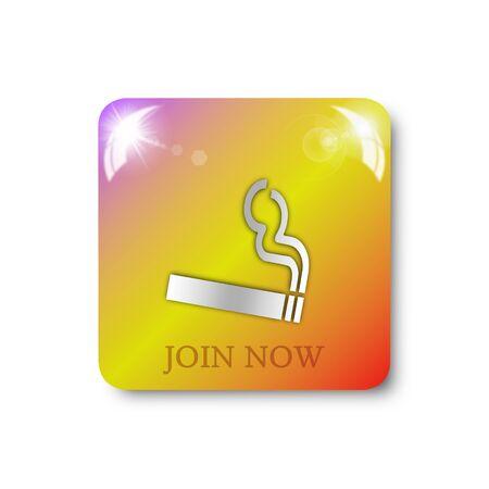 smoking icon, sign, illustration