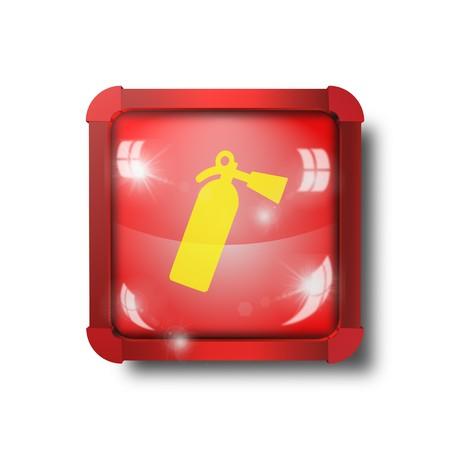 fire extinguisher icon, sign, illustration