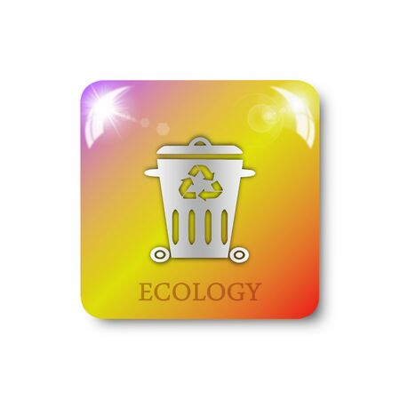 recycling: trash recycling icon, sign, illustration