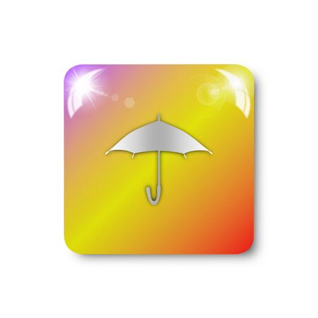 umbrella icon, sign, illustration