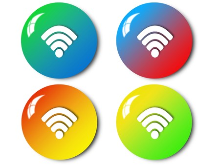 Wireless icon, sign, illustration