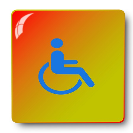 reside: Handicapped wheelchair icon,sing,illustration Stock Photo