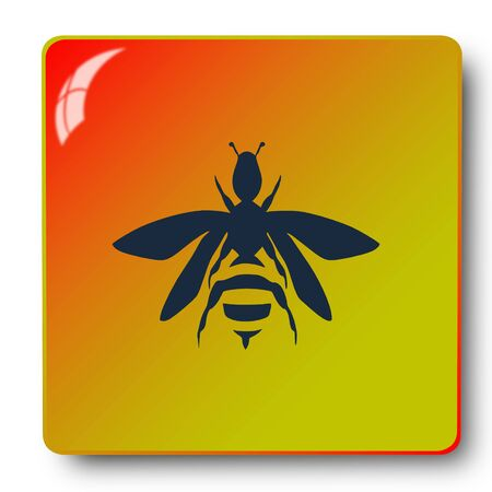 bee icon,sing,illustration