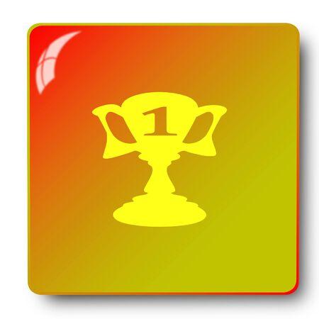trophy icon,sing,illustration