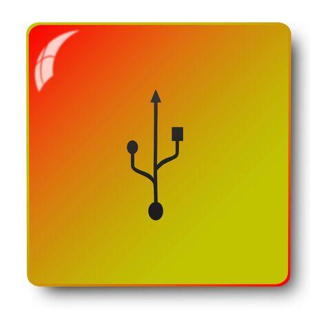 flash drive icon,sing,illustration Stock Photo