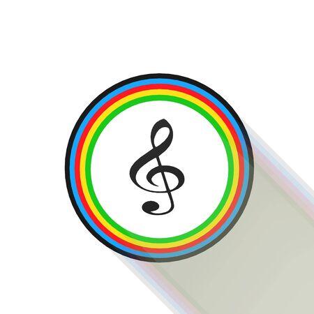 quaver: Clef icon,sing,illustration