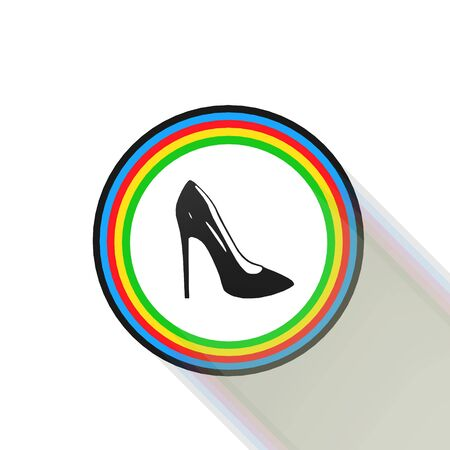 women shoes icon,sing,illustration Stock Photo