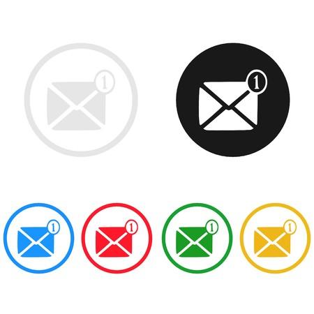 Message icon,sing,illustration Stock Photo