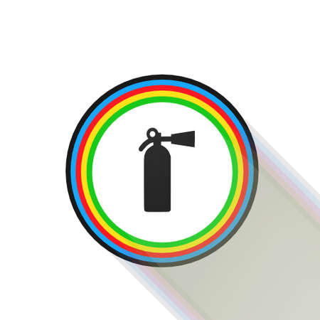 fire extinguisher icon,sing,illustration