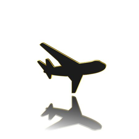 plane icon,sing,illustration