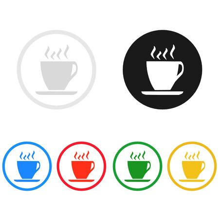 coffee and tea cups icon,illustration