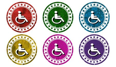 best security: Handicapped icon,illustration Stock Photo