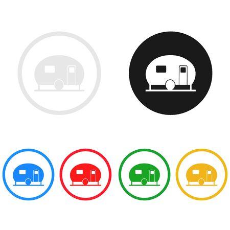 icon: Camping icon,sing,illustration