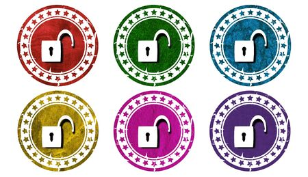 best security: padlock icon,sing,illustration