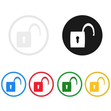 padlock icon,sing,illustration