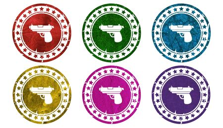gun icon,sing,illustration Stock Photo