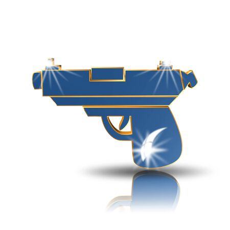 gun,icon,sing,3D illustration