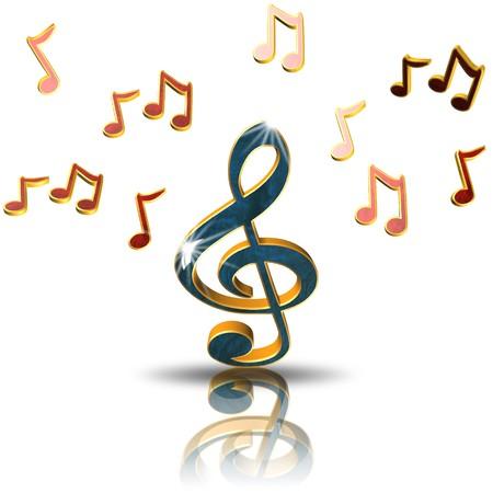 Clef, icona, canto, illustrazione 3D Archivio Fotografico - 77783983