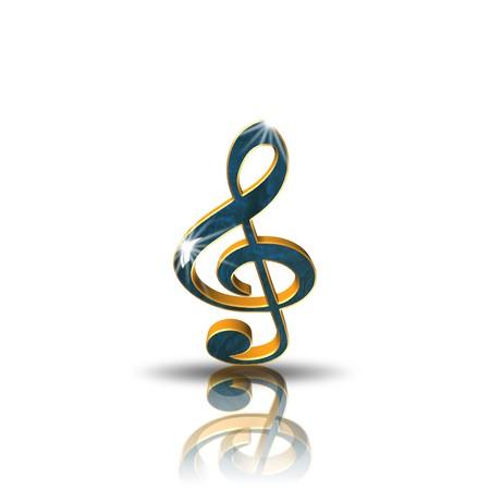 Clef,icon,sing,3D illustration