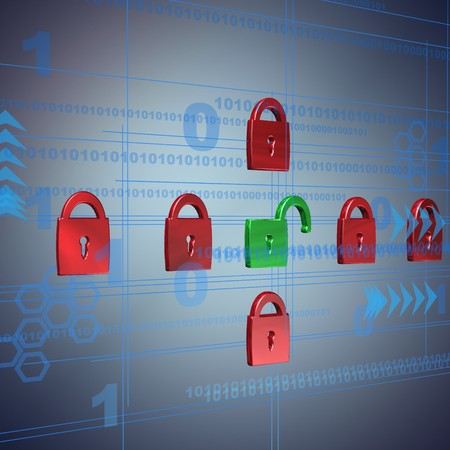 security,3D illustration Stock Photo
